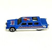 1990 Hot Wheels Blue Metallic Limousine Cadillac 1/64 B28