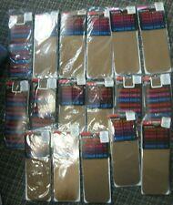 Opaque Comfort Top Knee Hi Suntan fits 81/2-11 Huge lot 17 new pairs # 1539