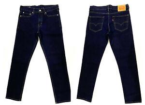 LEVIS 511 Men's Jeans Original Riveted Slim Fit Dark Wash Indigo Denim Gift