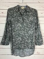 Cloth & Stone Anthropologie Women's XS Extra Small Gray Spring Top Blouse Shirt