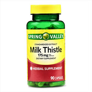 Spring Valley Milk Thistle Standardized Extract Capsules 175 Mg 90 Capsules