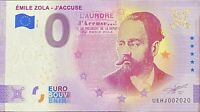 BILLET 0  EURO  EMILE ZOLA J'ACCUSE   ANNIVERSARY  FRANCE 2021  DOUBLON 2020