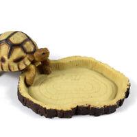 EE_ NEW Resin Dish Reptile Food Water Bowl Vivarium Animal Turtle Gecko Snake Fe