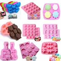 Silicone Fondant Candy Chocolate Cookies Cake Decorating Baking Mold Soap Mould
