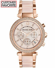 da5607d0e3f New Michael Kors Parker Rose Gold Blush MK5896 Watch for Women Blush  Crystal Set
