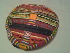 Faltbarer Rucksack Hippie Stil Reißverschluss Taschen verstellbare Träger Top hängende Schleife