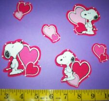 New! Valentine's Day Snoopy's Iron-ons Fabric Appliques Iron-on