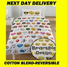 EMOJI EXPRESSIONS SINGLE DOONA COVER SET DUVET QUILT,KIDS,NEXT DAY DELIVERY*