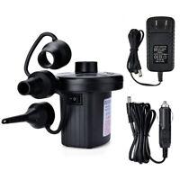 Air Pump For Inflatables Electric Portable Mattress Quick Fill AC 110V DC 12V