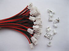 100 pcs 3.96mm VH3.96 2 pin Female Wire with Male pin Connector Leads 30cm 12in