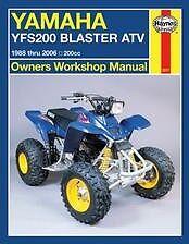 1988-2006 Yamaha YFS 200 Blaster ATV Quad REPAIR MANUAL owners service