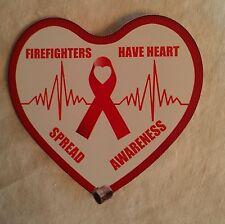 "Firefighter's For Heart Awareness Decal Decal Contour Cut 4"""
