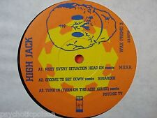 "HIGH JACK - Psychic TV  PTV  King Tubby  M.E.S.H. Sugardog  WAX TRAX 12"" PROMO 3"