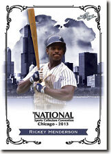 RICKEY HENDERSON.- 2013 Leaf National Convention PROMOTIONAL Baseball Card