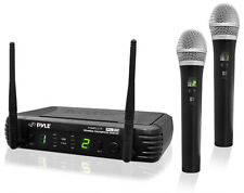 NEW Pyle PDWM3375 Professional 2-Channel UHF Wireless Handheld Microphone System