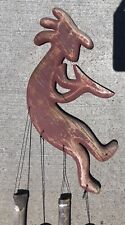 Vintage Kokopelli Weathered Wooden Wind Chimes