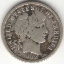 More details for 1902 o u.s.a.barber silver dime | pennies2pounds