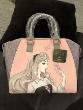 NWT Loungefly Disney Sleeping Beauty Princess Aurora Rose Gold Satchel Bag