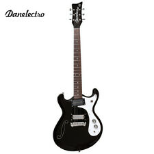 Danelectro The '66 Semi Hollow Body Electric Guitar Black with F-Hole D66-BLK