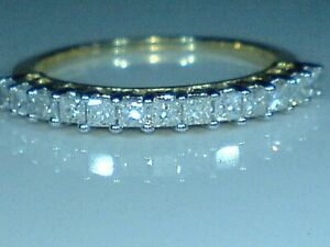 9ct yellow gold hallmarked 0.65 carat natural real diamond eternity ring size q