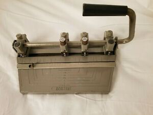 Rare Vintage Boston 4 Hole Punch STD Heavy Duty Metal Office Paper Puncher