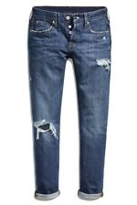 Levi's 501 Womens Size 27 x 28 Taper Leg Original Fit Jeans Mid Rise Button Fly