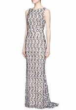 ALICE+OLIVIA Sz6 SABA SEQUIN BEADED LACE GOWN DRESS BLACK/NUDE