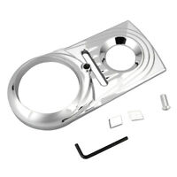 Hot Chrome Dash Panel Cover Die Cast Sculpted For Harley Softail Dyna 1993-2017