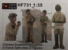 HOBBY FAN 1/35 Chinese Exspeditionary X Force Tank Crew (2 Figures) - HF731