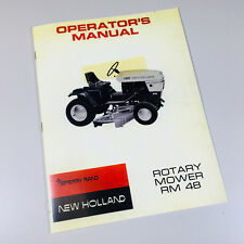 New Holland S-12 S-14 Tractors 48 Rotary Mower Owners Operators Manual Book