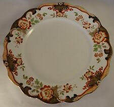 """Up To 5 Antique Royal Doulton 10.5"""" Temple Floral Gilded Dinner Plates c1906 VG"""