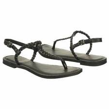 """NEW Women's Rock & Candy """"Mohijito"""" -WAS $50!- size 6 black braided thong flip"""