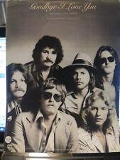 Goodbye I Love You - Firefall - 1979 US Sheet Music