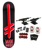 Deathwish Skateboard Complete Gang Logo Black/Red 8.0' Black Trucks 52mm WHeels