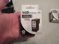 NEW LD CB336WN 74XL Black Ink Cartridge for HP Printer 12/17 EXPIRATION