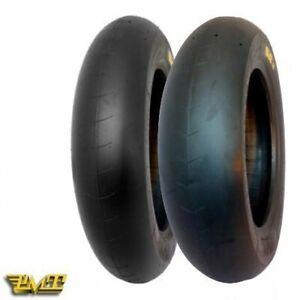 "PMT 12"" S Slick Pair Tyres 100/90/12 & 130/75/12  pit bike race tyres"