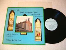 """Revelation Baptist Church Mass Choir """"Choose Ye..."""" 1970's Gospel LP, Nice VG++!"""