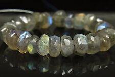 Labradorite Irregular Shape Small Rondelle Beads - 6 x 3 mm - 26 beads - 5592A