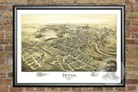 Old Map of Irwin, PA from 1897 - Vintage Pennsylvania Art, Historic Decor