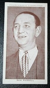 Boxing Referee & Manager Sam Russell   Original 1930's Vintage Photo Card