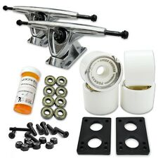 HD7 Longboard Combo set - Polished trucks (Solid White)