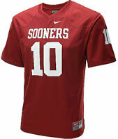 Oklahoma Sooners Youth Game #10 Crimson Football Jersey By Nike