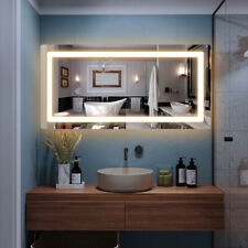 "48"" x 24� Led Bathroom Wall Mirrors with Illuminated Light Makeup Vanity Mirror"