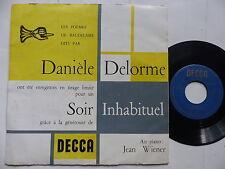 Poemes BAUDELAIRE par DANIELE DELORME Soir inhabituel Piano JEAN WIENER 455515