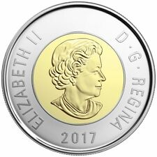 2017 Canada Classic Polar Bear $2 Dollars Toonie Unc From Mint Roll