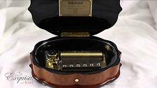 NEW REUGE Fleur de Lys 72 Note Inlay Music Box *Video*
