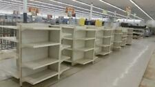 4 Side GONDOLA Metal Shelving LOT 4 Used Store Fixtures Impulse Rack Shelves