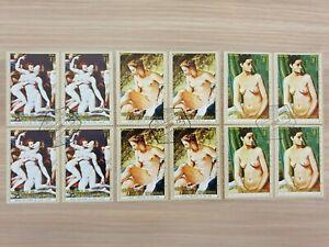 Equatorial Guinea 1972 nudes 3 blocks of 4 stamps CTO
