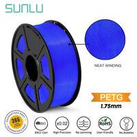SUNLU PETG 3D Printer Filament 1.75mm 1KG/2.2LB Spool Blue Good adhesion