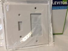 Leviton 80605-W 2-Gang 1-Toggle 1-Decora/GFCI Combo Wall-Plate Outlet Cover Mid